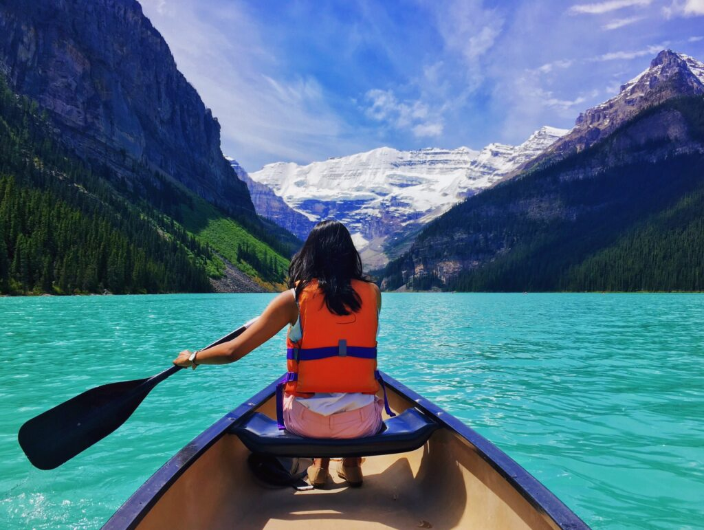 Canoeing on Lake Louise, Banff National Park - North American Adventures