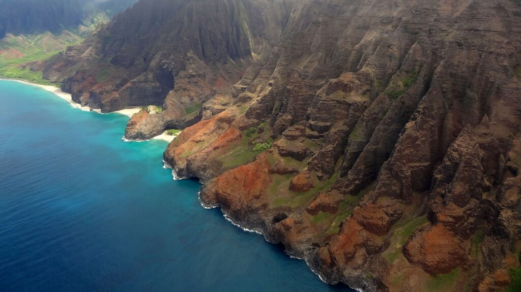 Nāpali Coast from a helicopter - North American Adventures