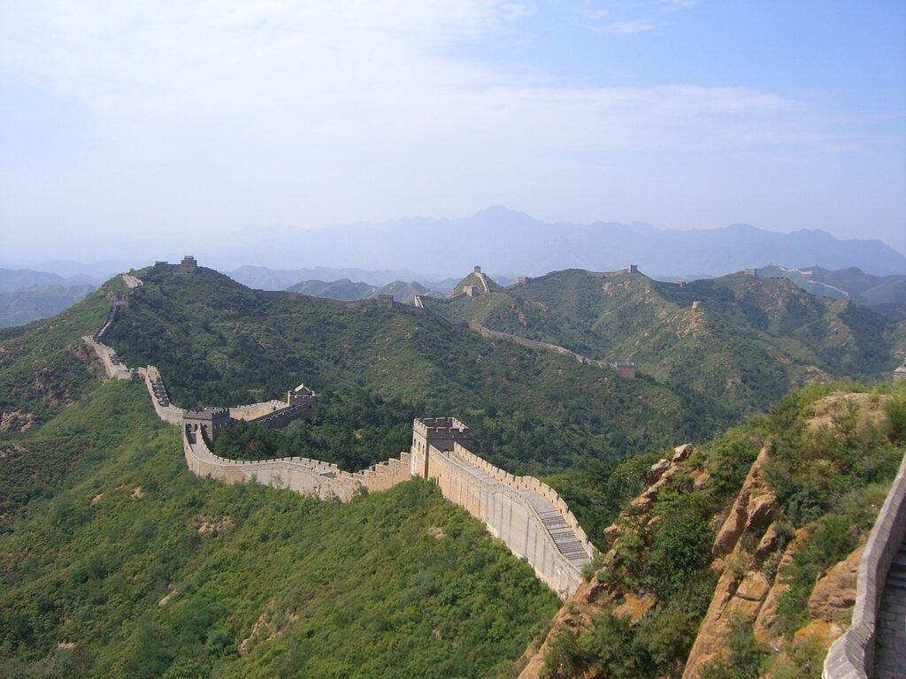 The Great Wall of China. Asian River cruising on Yangtze.