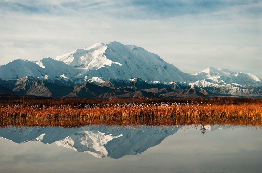 Mount McKinley in the fall, Alaska
