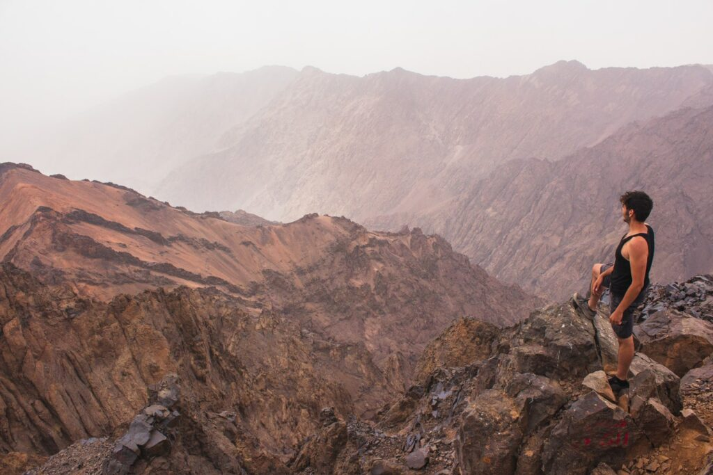Hiking in Toubkal, Morocco - High Atlas Mountains. Photo by Louis Hansel. Top 10 Mountain Vacations
