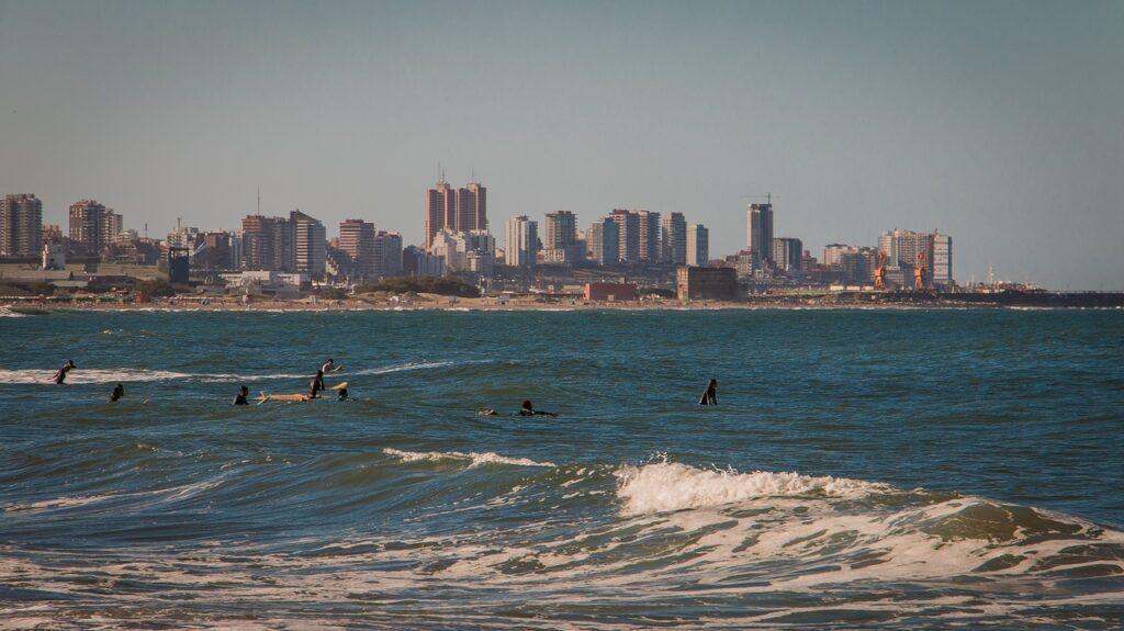 Surfers at Mar del Plata - 10 reasons to pack your bags for Argentina
